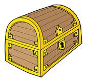 treasure chest lock coloring pages - photo#32