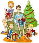 open present clipart. family christmas opening presents open present clipart