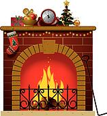 Fireplace Clipart Vector Graphics. 4,503 fireplace EPS clip art ...