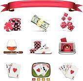Vector gambling icon set. P.1(w)
