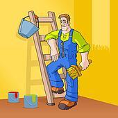 Good ... Man Painting Wall Orange