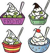 Vanilla Frozen Yogurt Clip Art