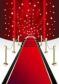 Clip Art of Red Carpet k3936912 - Search Clipart, Illustration ...