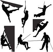 Rock climbing Clipart Illustrations. 3,778 rock climbing clip art ...