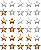 Clip Art of vector golden shiny rating stars k8697527 - Search ...