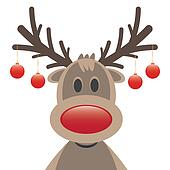 Rudolph clipart and illustration 1 021 rudolph clip art for Rudolph the red nosed reindeer template