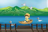 Row boat Clipart and Illustration. 379 row ...