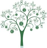 Money tree Clipart EPS Images. 889 money tree clip art ...