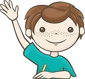 raising hand clip art Success